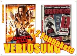 Verlosung Gewinnspiel Giveaway - Machete Kills & Grindhouse - DVDs