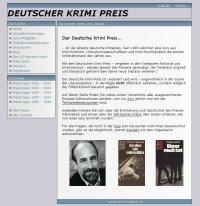 Deutscher Krimi Preis: Homepage-Screenshot - © Bochumer Krimi Archiv