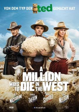 A Million Ways to Die in the West – deutsches Filmplakat – Film-Poster Kino-Plakat deutsch