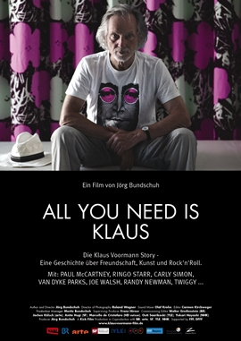 All you need is Klaus – Die Klaus Voormann-Story – deutsches Filmplakat – Film-Poster Kino-Plakat deutsch