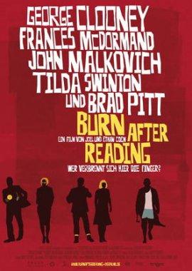 Burn After Reading – Wer verbrennt sich hier die Finger? – Brad Pitt, George Clooney, John Malkovich, Frances McDormand, Tilda Swinton, Richard Jenkins – Joel Coen, Ethan Coen – Lenny Venito – Filme, Kino, DVDs Kinofilm Comedydrama – Charts & Bestenlisten