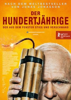 Der Hundertjährige, der aus dem Fenster stieg und verschwand – deutsches Filmplakat – Film-Poster Kino-Plakat deutsch