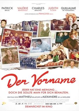 Der Vorname – deutsches Filmplakat – Film-Poster Kino-Plakat deutsch