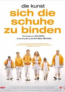 Die Kunst sich die Schuhe zu binden – deutsches Filmplakat – Film-Poster Kino-Plakat deutsch