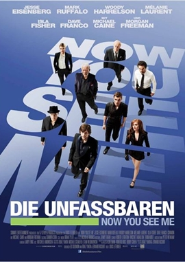 Die Unfassbaren – Now You See Me – deutsches Filmplakat – Film-Poster Kino-Plakat deutsch