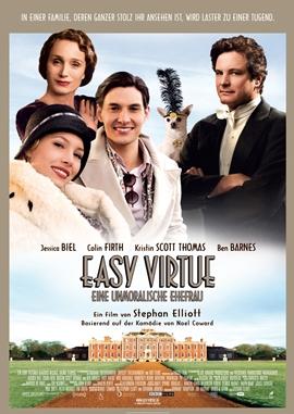 Easy Virtue – Eine unmoralische Ehefrau – deutsches Filmplakat – Film-Poster Kino-Plakat deutsch