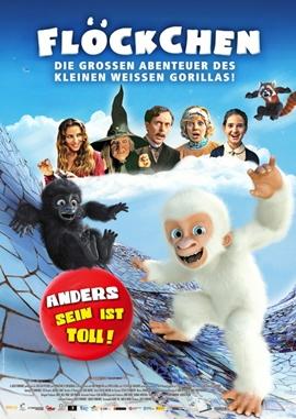 Flöckchen – Die großen Abenteuer des kleinen weißen Gorillas – deutsches Filmplakat – Film-Poster Kino-Plakat deutsch
