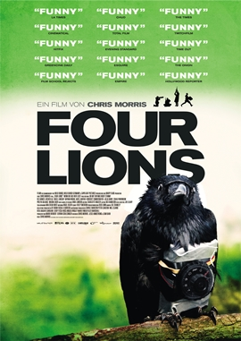 Four Lions – deutsches Filmplakat – Film-Poster Kino-Plakat deutsch