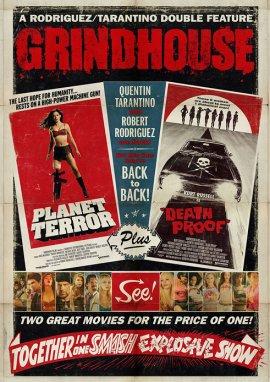 Grindhouse Double Feature – Death Proof & Planet Terror – deutsches Filmplakat – Film-Poster Kino-Plakat deutsch