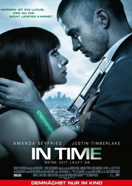 In Time – Deine Zeit läuft ab – deutsches Filmplakat – Film-Poster Kino-Plakat deutsch
