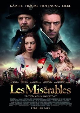 Les Misérables – deutsches Filmplakat – Film-Poster Kino-Plakat deutsch