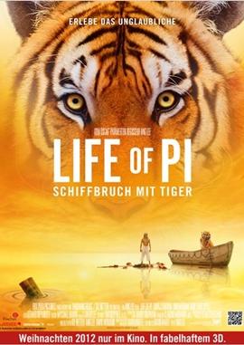 Life of Pi – Schiffbruch mit Tiger – deutsches Filmplakat – Film-Poster Kino-Plakat deutsch