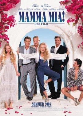 Mamma Mia! – Der Film – Meryl Streep, Pierce Brosnan, Amanda Seyfried, Colin Firth, Julie Walters, Stellan Skarsgård – Phyllida Lloyd – ABBA, Musikfilm – Filme, Kino, DVDs Kinofilm Musicalkomödie – Charts & Bestenlisten