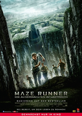 Maze Runner – Die Auserwählten im Labyrinth – deutsches Filmplakat – Film-Poster Kino-Plakat deutsch