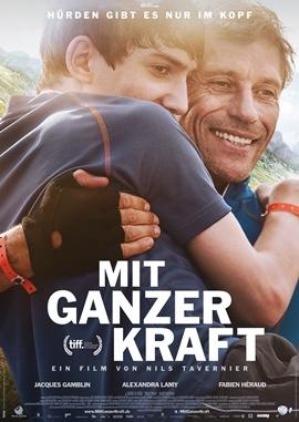 Mit ganzer Kraft – Hürden gibt es nur im Kopf – deutsches Filmplakat – Film-Poster Kino-Plakat deutsch