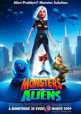 Monsters vs. Aliens – deutsches Filmplakat – Film-Poster Kino-Plakat deutsch