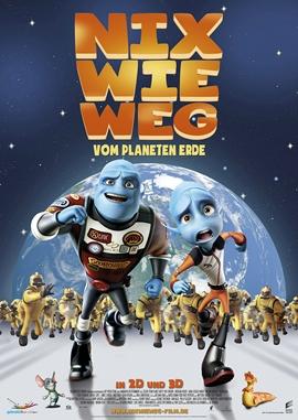 Nix wie Weg vom Planeten Erde – deutsches Filmplakat – Film-Poster Kino-Plakat deutsch