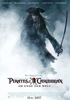 Pirates of the Caribbean – Fluch der Karibik 3: Am Ende der Welt – deutsches Filmplakat – Film-Poster Kino-Plakat deutsch