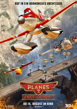 Planes 2 – Immer im Einsatz – deutsches Filmplakat – Film-Poster Kino-Plakat deutsch