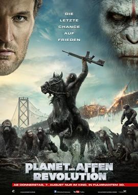 Planet der Affen – Revolution – deutsches Filmplakat – Film-Poster Kino-Plakat deutsch