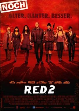 R.E.D. 2 – Noch Älter. Härter. Besser. – deutsches Filmplakat – Film-Poster Kino-Plakat deutsch