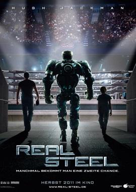 Real Steel – Stahlharte Gegner – deutsches Filmplakat – Film-Poster Kino-Plakat deutsch