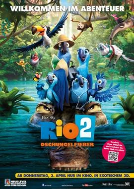 Rio 2 – Dschungelfieber – deutsches Filmplakat – Film-Poster Kino-Plakat deutsch