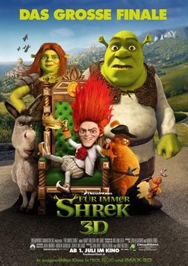 Shrek 4 – Für immer Shrek – deutsches Filmplakat – Film-Poster Kino-Plakat deutsch