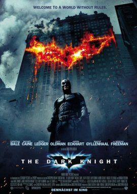 The Dark Knight – Christian Bale, Heath Ledger, Michael Caine, Gary Oldman, Aaron Eckhart, Maggie Gyllenhaal – Christopher Nolan – Morgan Freeman, Batman – Filme, Kino, DVDs Kinofilm Action-Abenteuerfilm – Charts & Bestenlisten