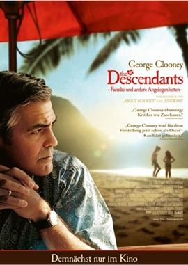 The Descendants – Familie und andere Angelegenheiten – deutsches Filmplakat – Film-Poster Kino-Plakat deutsch