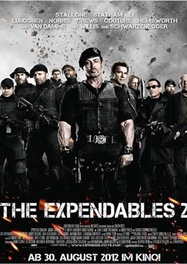 The Expendables 2 – deutsches Filmplakat – Film-Poster Kino-Plakat deutsch