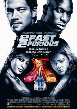 The Fast and the Furious 2 – 2 Fast 2 Furious – deutsches Filmplakat – Film-Poster Kino-Plakat deutsch
