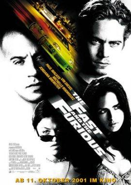 The Fast and the Furious – deutsches Filmplakat – Film-Poster Kino-Plakat deutsch
