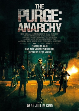 The Purge 2 – Anarchy – deutsches Filmplakat – Film-Poster Kino-Plakat deutsch