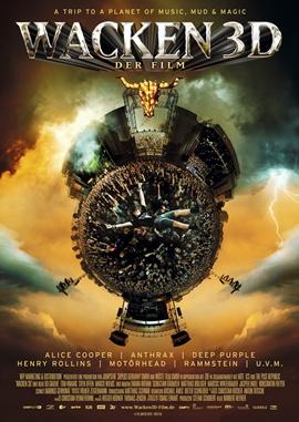Wacken 3D – Der Film – deutsches Filmplakat – Film-Poster Kino-Plakat deutsch