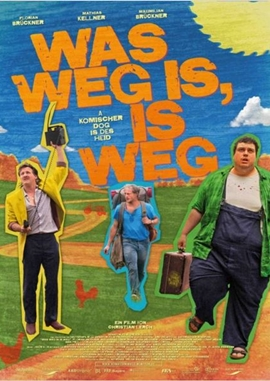 Was weg is, is weg – deutsches Filmplakat – Film-Poster Kino-Plakat deutsch