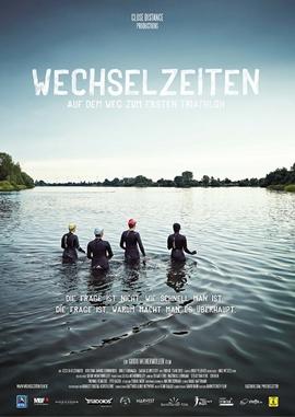Wechselzeiten – Auf dem Weg zum ersten Triathlon – deutsches Filmplakat – Film-Poster Kino-Plakat deutsch