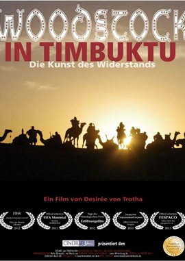 Woodstock in Timbuktu – Die Kunst des Widerstands – deutsches Filmplakat – Film-Poster Kino-Plakat deutsch