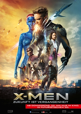X-Men – Zukunft ist Vergangenheit – deutsches Filmplakat – Film-Poster Kino-Plakat deutsch