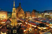 Christkindlmarkt Nürnberg Bayern Deutschland - Urlaub Reisen Tourismus