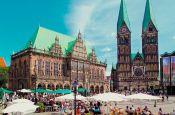 Marktplatz Bremen Deutschland - Urlaub Reisen Tourismus