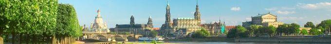 Dresden/Sachsen: Blick auf Frauenkirche, Hofkirche, Schloss und Semperoper, UNESCO-Welterbestätte - © Sylvio Dittrich/Dresden-Werbung und Tourismus GmbH